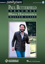 Paul Butterfield Teaches Blues Harmonica Master Class: Book/Audio