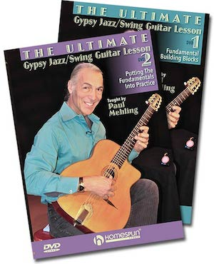 the ultimate gypsy jazz swing guitar lesson two dvd set homespun. Black Bedroom Furniture Sets. Home Design Ideas